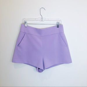 Alice + Olivia Orchid Donald High Waisted Shorts